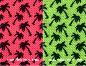 Bullet Textured Neon Pink or Yellow Palm Trees Liverpool Poly/Spandex Stretch Knit Fabric