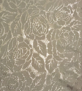 Holiday Textured Foil Poly/Spandex Liverpool Stretch Knit Fabric