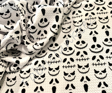 Bullet Textured Nightmare Ghost Halloween Christmas Skulls Fabric