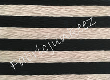 Load image into Gallery viewer, Bullet Textured Blush Black Stripe Fabric