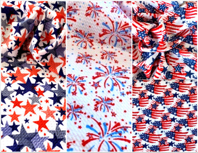 Bullet Textured Patriotic Collection Flags, Stars or Fireworks Fabric