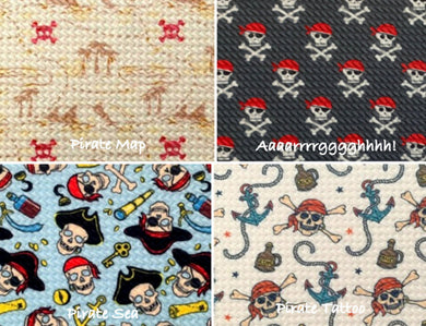 Bullet Textured Pirate Skull Collection Liverpool Poly/Spandex Stretch Knit Fabric