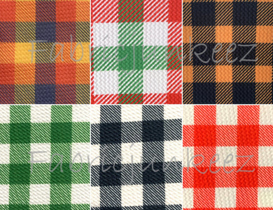 Bullet Textured Buffalo Plaid Collection Fabric
