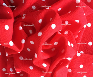 Textured Liverpool Polka Dot Fabric