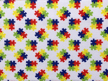 Load image into Gallery viewer, Bullet Textured Puzzle Autism Awareness Collection Fabric