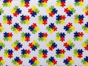 Bullet Textured Puzzle Autism Awareness Collection Fabric