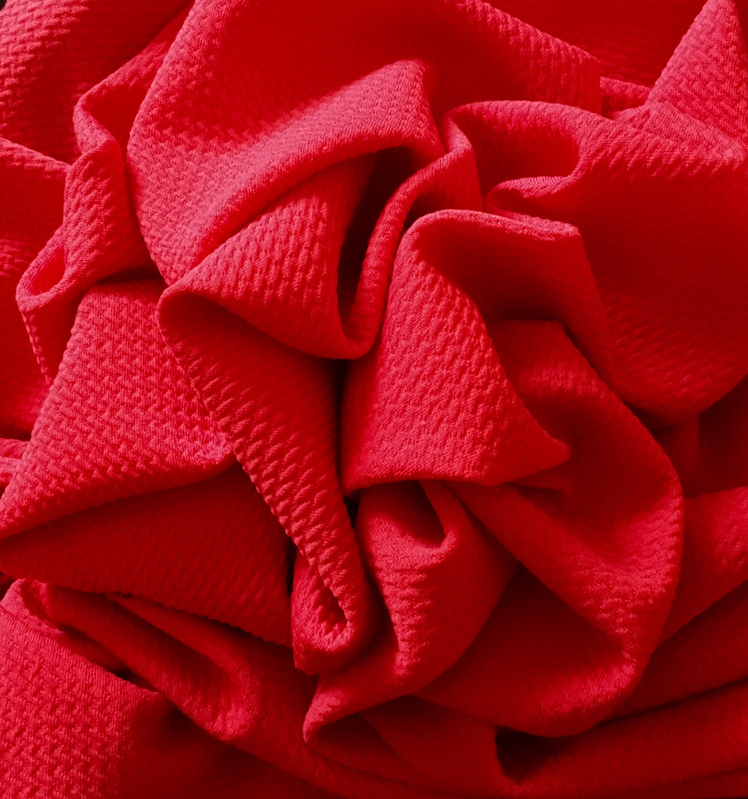 Bullet Textured New Red Liverpool Poly/Spandex Stretch Knit Fabric