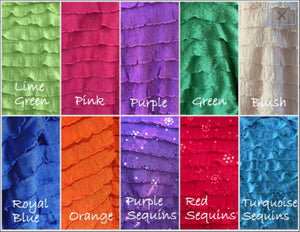 "1"" Ruffle Poly/Spandex Stretch Fabric"