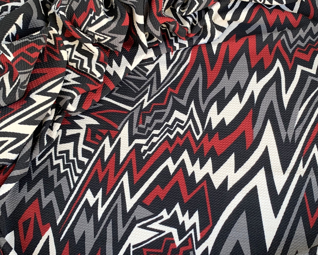 Bullet Textured Spiked Zigzag Jagged Line Stripe Fabric