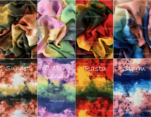 Bullet Textured Tie Dye Fabric (4 Colors)