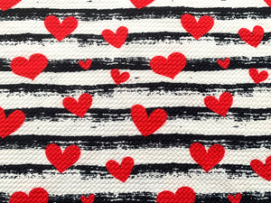 Textured Bullet Valentines Day Poly Spandex Stretch Fabric