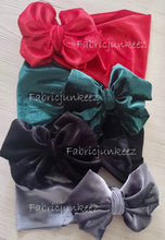 Load image into Gallery viewer, New! Quality Velvet Poly/Spandex Stretch Fabric Red, Green, Silver or Black
