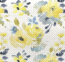 Load image into Gallery viewer, Bullet Textured Yellow/Blue Floral Collection Liverpool Poly/Spandex Stretch Knit Fabric