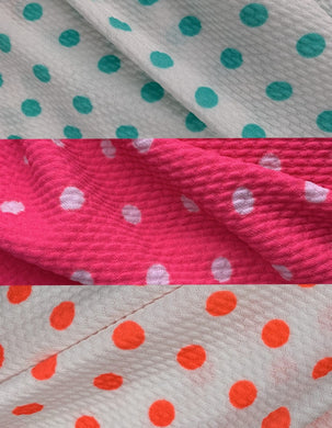 Bullet Textured Polka Dot Fabric