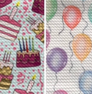 Bullet Textured Birthday Cake Balloon Collection Fabric