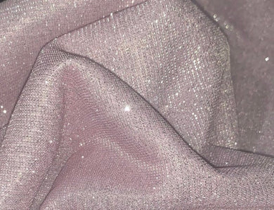 Bling Bling Glitter Rose Pink Scuba Poly/Spandex Stretch Fabric
