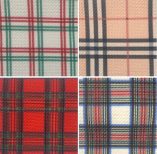 Load image into Gallery viewer, Bullet Textured Plaid Poly/Spandex Stretch Fabric