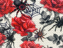 Load image into Gallery viewer, Bullet Textured Spiderweb Spider Halloween Fabric