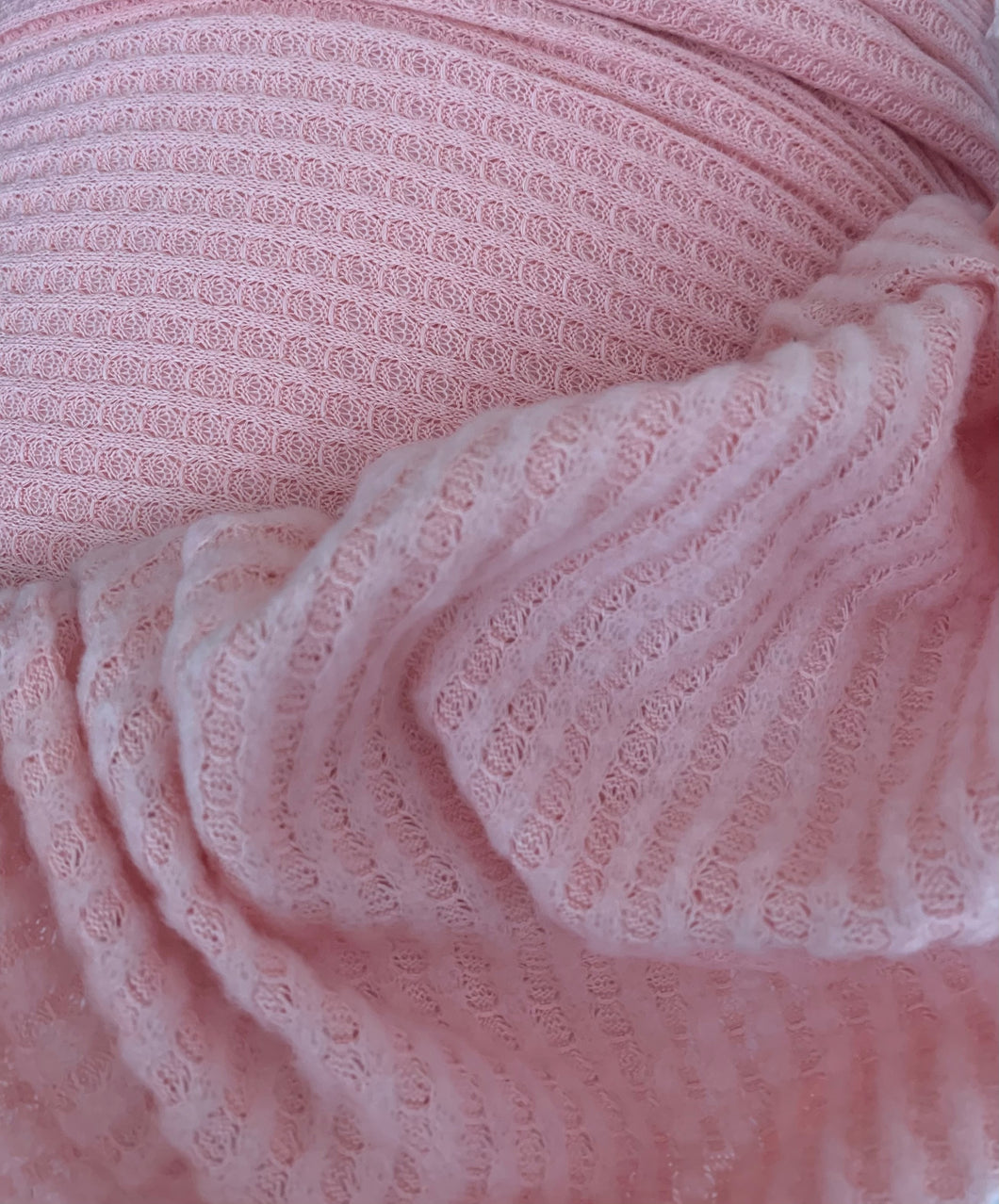Soft Brushed Waffle Stretch Knit Poly Spandex Fabric