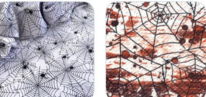 Bullet Textured Spiderweb Spider Halloween Fabric