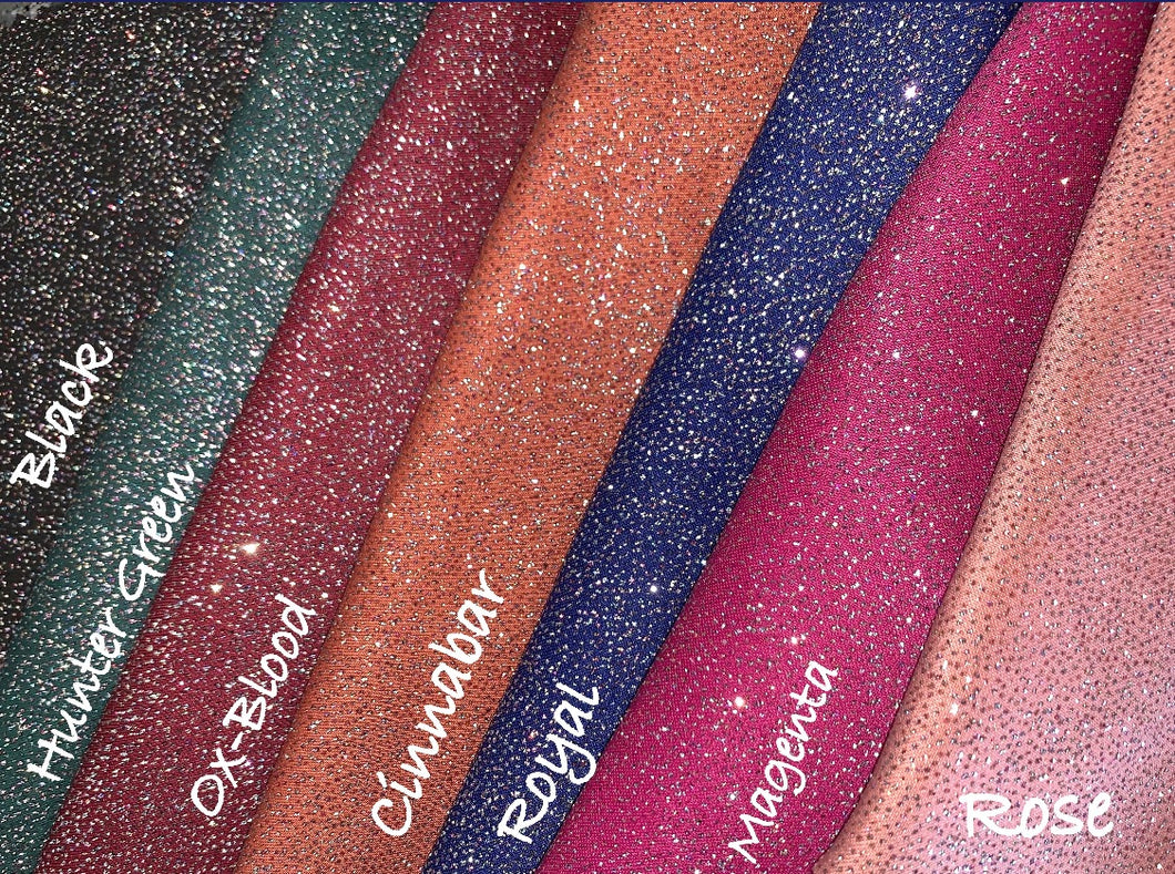 Remnants/Scraps Allover Glitter Bling Scuba Poly/Spandex Stretch Fabric