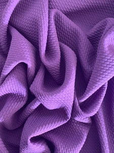 Bullet Textured New Purple Liverpool Poly/Spandex Stretch Knit Fabric