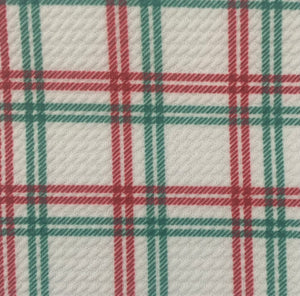 Bullet Textured Plaid Poly/Spandex Stretch Fabric