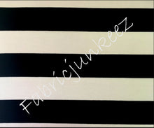 "Load image into Gallery viewer, Bullet Textured Black White 3"" Thick Stripe Fabric"