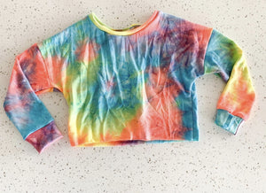 New Item! Neon Tie Dye French Terry Fabric