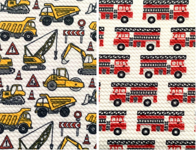 Bullet Textured Fire Truck Construction Collection Liverpool Poly/Spandex Stretch Knit Fabric