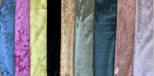 Load image into Gallery viewer, Velvet Velour Poly/Spandex Stretch Fabric (9 Colors)