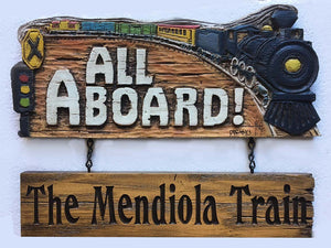 All Aboard Train Personalized Sign