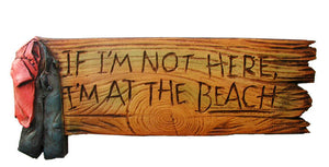 At The Beach Sign, Beach House Decor