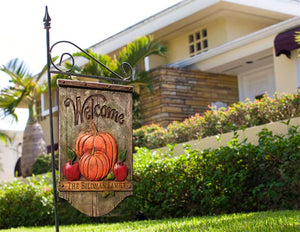 Autumn Welcome Yard Sign Personalized with your name