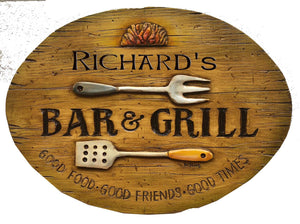 Bar and Grill Custom Sign