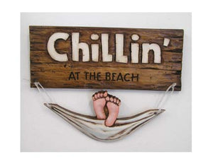 Beach House Welcome sign, Chillin at the Beach  #302A