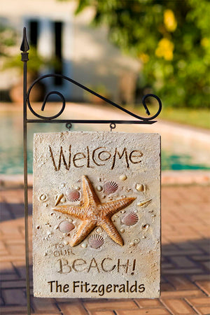 Beach House Welcome Yard Sign 324B