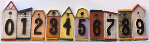 Bird House Large House Numbers