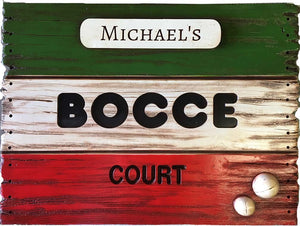Bocce Score Board Sign Large Version