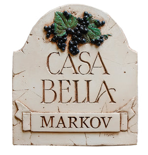 Casa Bella Italian Plaque Personalized   item 646P