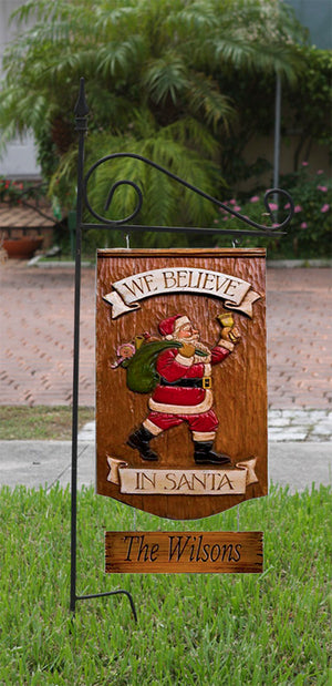 Christmas Yard Sign personalized with your name