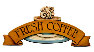 Coffee Themed Decor, Fresh Coffee Sign item 566E