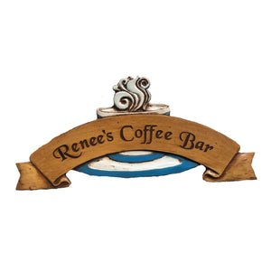 Coffee Wall Art Personalized Door Topper