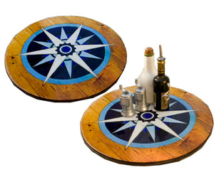 Nautical Compass Rose Decor Lazy Susan