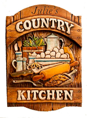 Country Kitchen Personalized Sign, item 600A