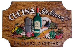 Cucina Italian Wall Plaque  item 669A