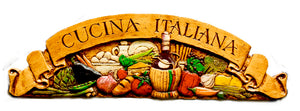 Cucina Italiana door topper wall plaque for Italian Kitchen Decor item 501C