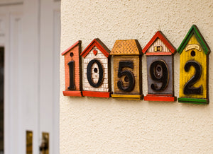 Custom and Decorative Birdhouse House Numbers