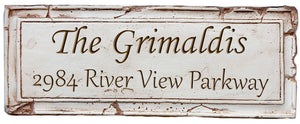 Custom Antique Address and Name Sign  item 665P