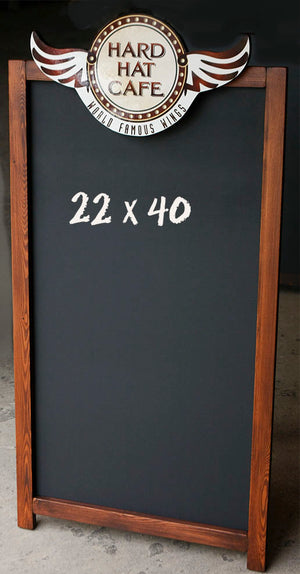 Custom Cafe Logo Chalkboard